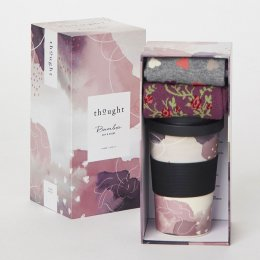 Thought Hearts Bamboo Cup & Socks Gift Set