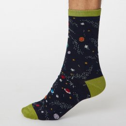 Thought Dark Navy Galassia Bamboo Socks - UK7-11