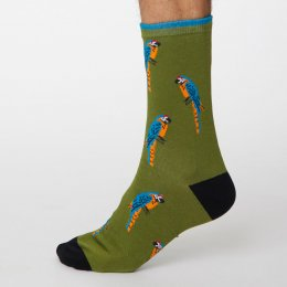 Thought Olive Green Pappagallo Bamboo Socks - UK7-11