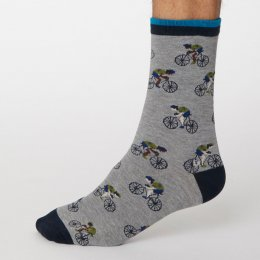Thought Mid Grey Marle Garra De Bici Bamboo Socks - UK7-11