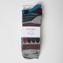 Thought Riccardo Bamboo Socks - UK7-11 - 3 Pairs