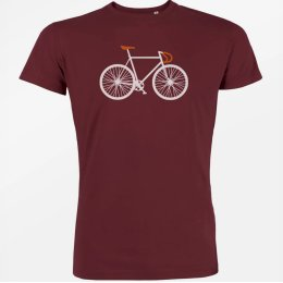 Green Bomb Bike Two T-Shirt - Burgundy