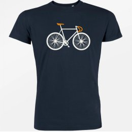 Green Bomb Bike Two T-Shirt - Navy