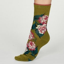 Thought Lichen Rosie Bamboo Socks - UK4-7