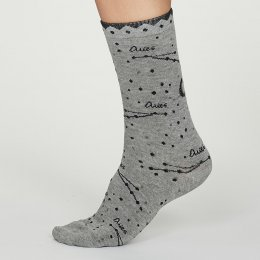 Thought Aries Zodiac Star Sign Bamboo Socks - UK4-7
