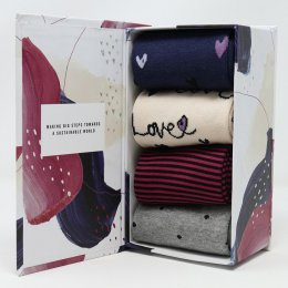 Thought Amore Bamboo Socks Gift Box - UK4-7