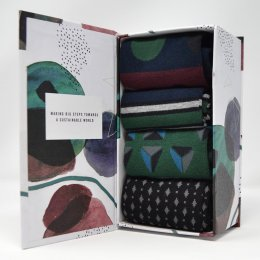 Thought Henry Bamboo Socks Gift Box - UK7-11