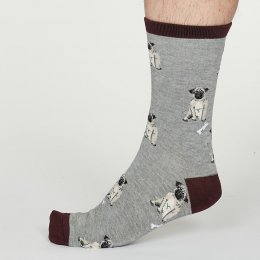 Thought Mid Grey Lyman Bamboo Socks - UK7-11