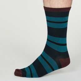 Thought Navy Blue Jacob Bamboo Socks - UK7-11
