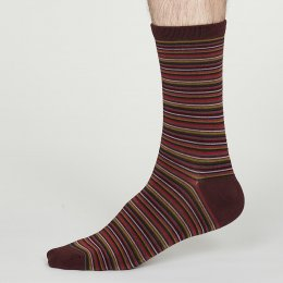Thought Burgundy William Bamboo Socks - UK7-11