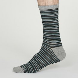 Thought Mid Grey William Bamboo Socks - UK7-11