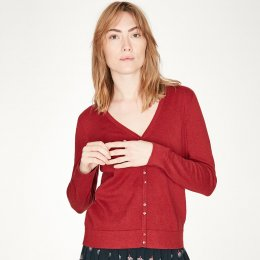 Thought Loren Cardigan - Ruby Red