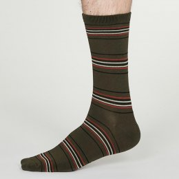 Thought Walnut Grey Nicolson Bamboo Socks - UK7-11