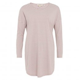 People Tree Almond Stripe Long Sleeved Nightdress