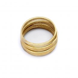 People Tree Handmade Stackable Rings - Brass
