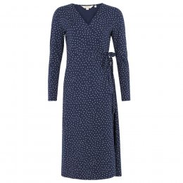 People Tree Lisa Leaf Print Wrap Dress