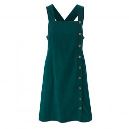 Nomads Bay Button Through Dungaree Dress