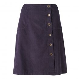 Nomads Aubergine Button Through Skirt