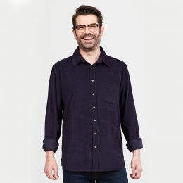 Nomads Aubergine Long Sleeved Cord Shirt