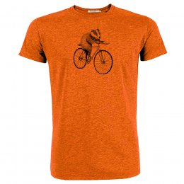 Green Bomb Bike Badger T-Shirt - Orange