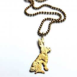 La Jewellery Recycled Brass Lobee Hare Nacklace