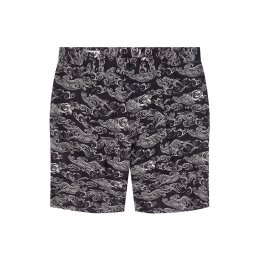 Komodo Bobby Pleat Shorts - Uluwatu Black
