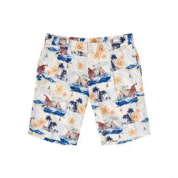 Komodo Bobby Pleat Shorts - Bali Surf Print