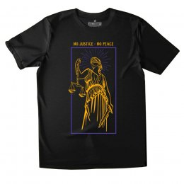 All Riot No Justice No Peace Organic T-Shirt - Black