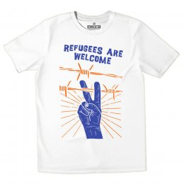 All Riot Refugees are Welcome Organic T-Shirt - White