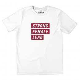All Riot Strong Female Lead Organic T-Shirt - White