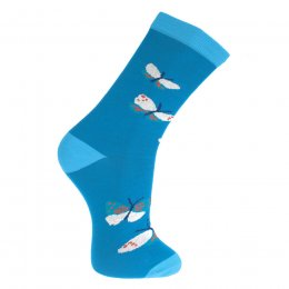 Blue Butterfly Socks - UK3-7