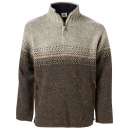 Isle of Skye Half Zip Sweater - Bark