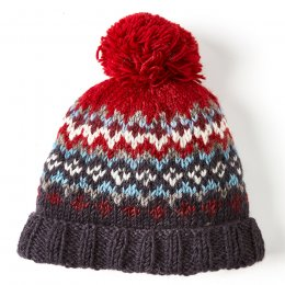 Cliften Bobble Beanie - Red