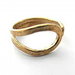 La Jewellery Recycled Brass Wave Ring