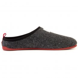 Mercredy Mens Slippers - Black & Burgundy