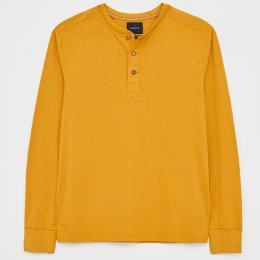 White Stuff Brook Fairtrade Henley T-Shirt - Dark Yellow