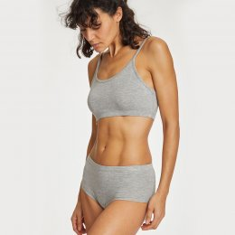 Thought Leah Organic Cotton Bralet - Grey Marle