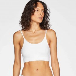 Thought Leah Organic Cotton Bralet - White