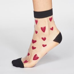Thought Magenta Pink Zari Heart Bamboo Socks - UK 4-5
