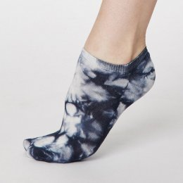 Thought Navy Tie Dye Trainer Bamboo Socks - UK 4-7