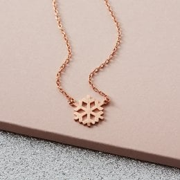 Kashka London Let it Snow Rose Gold Necklace