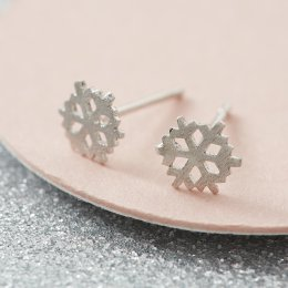 Kashka London Let it Snow Silver Earrings