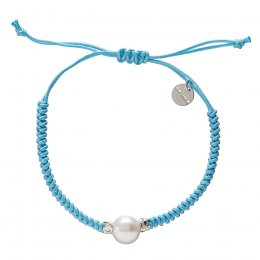 Kashka London Adira Fresh Water Shell Friendship Bracelet - Sky Blue