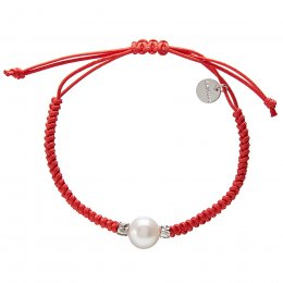 Kashka London Adira Fresh Water Shell Friendship Bracelet - Red