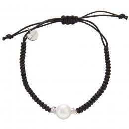 Kashka London Adira Fresh Water Shell Friendship Bracelet - Black