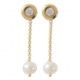 Kashka London Nina Gold Drop Earrings