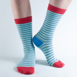 Doris & Dude Green Stripe Bamboo Socks - UK3-7
