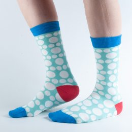 Doris & Dude Green Spot Bamboo Socks - UK3-7