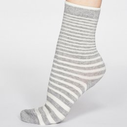 Thought Grey Marle Jacinda Stripe Bamboo Socks - UK 4-7