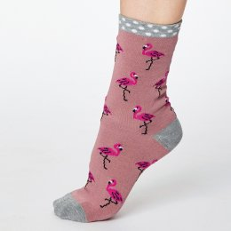Thought Rose Pink Rosa Bamboo Socks - UK 4-7
